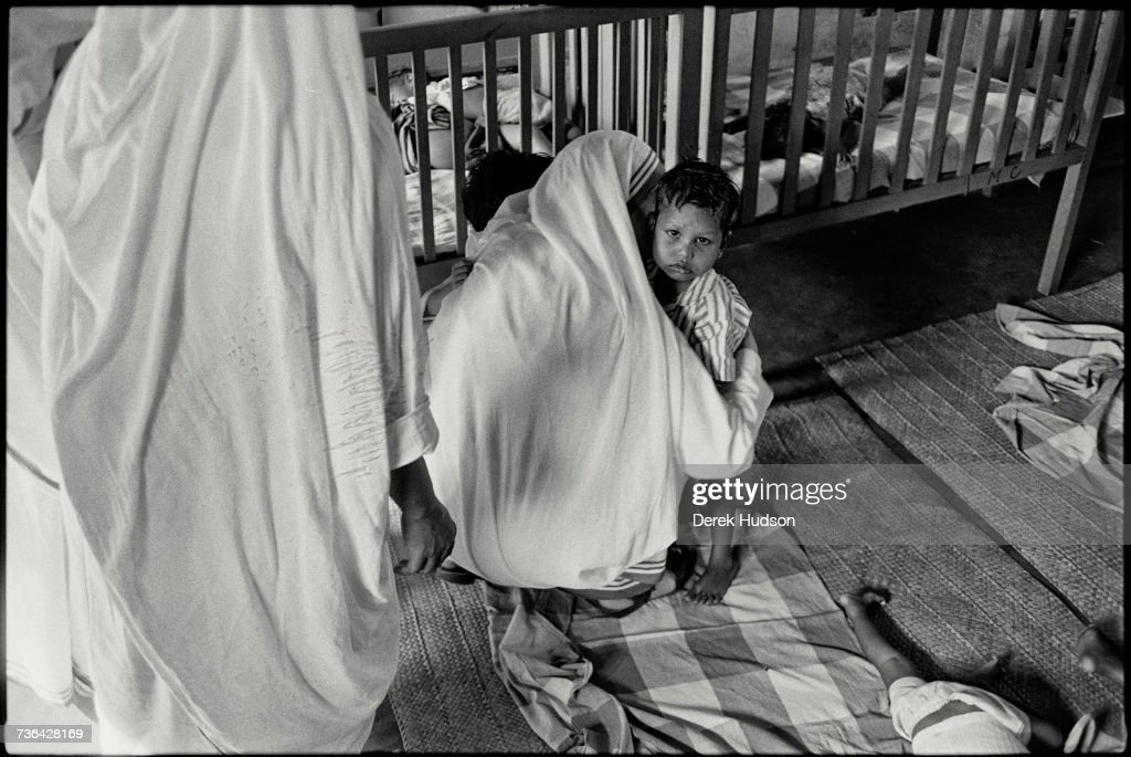 Mother Teresa, or Saint Theresa of Calcutta, the Roman Catholic nun missionary who founded the Missionaries of Charity. (Photo by Derek Hudson/Getty Images)/ Getty Images