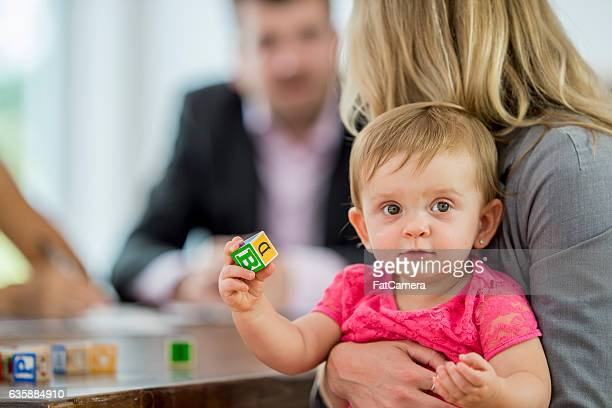 Mother Watching Her Daughter at Work