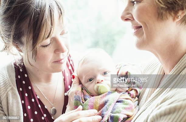 Mother with baby and grandmother