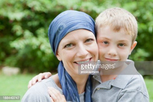 Mother with Cancer and Her Son
