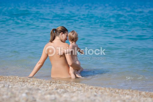 Bebes were nude at the beach share your