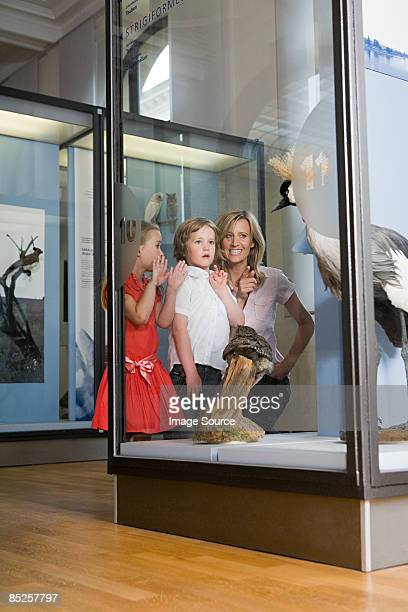 Mother with children at a museum