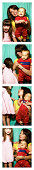 Mother with children (1-3) in photo booth