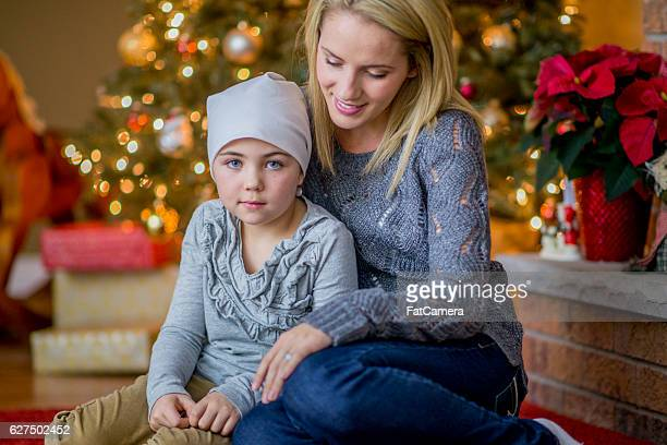 Mother with Her Daughter Together on Christmas Day