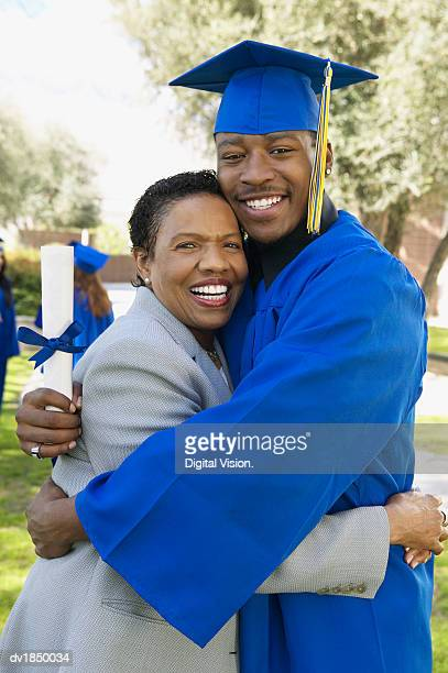 Mother With Her Son on Graduation Day