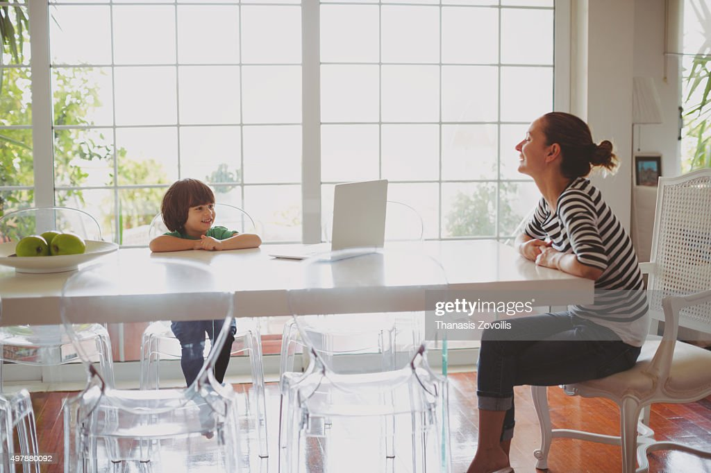 Mother with her son : Stock Photo