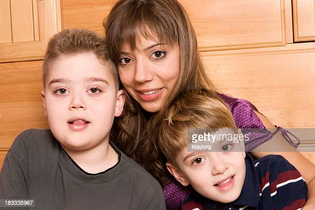 Mother with her sons