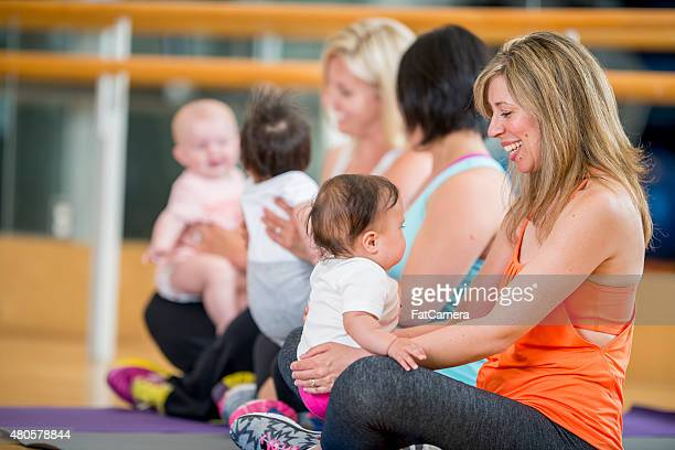 Mothers and their Babies at Excercise Class