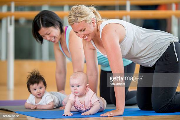 Mothers and their Babies at Yoga Class
