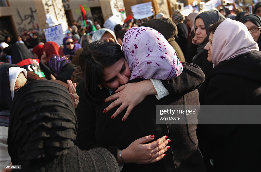 Anti gaddafi protests continue to grow in libya photos and images mothers are consolded for their sons political prisoners allegedly killed in 1996 by the gaddafi sciox Choice Image