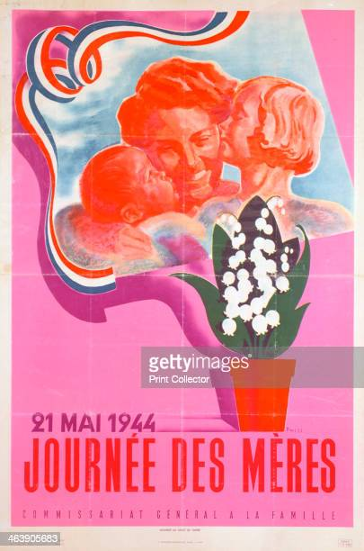 'Mother's Day 21st May 1944' Vichy French poster 1944