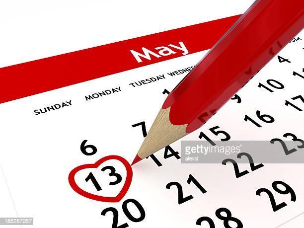 Calendario del día de la madre