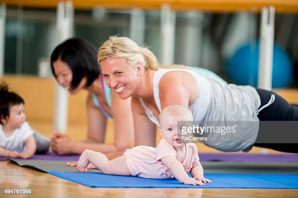 Mothers Exercising with Their Babies