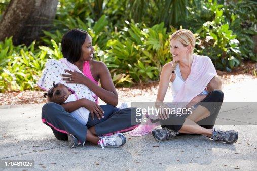 Mothers nursing babies