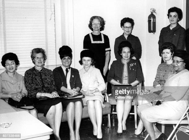Mothers of Denver Teenagers discuss trends their Children follow Don't follow today Seated from left are Mrs R M Ora Mrs Edward Hill Mrs L Joseph...