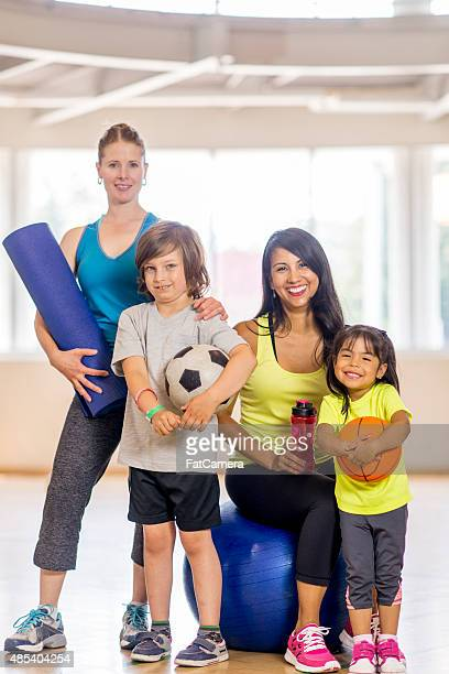 Mother's with Children at the Gym