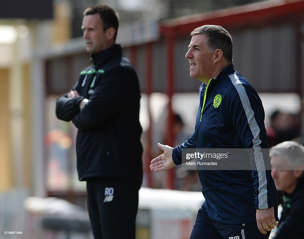 Motherwell manager Mark McGhee reacts on the touch line during the Ladbrokes Scottish Premiership match between Celtic FC and Motherwell FC at Fir...
