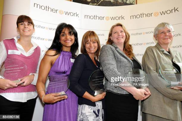 Mother@work award winners from left Microsoft's Claire Smyth who picked up Employer of the Future winner Exceptional Working Mother winner Geeta...