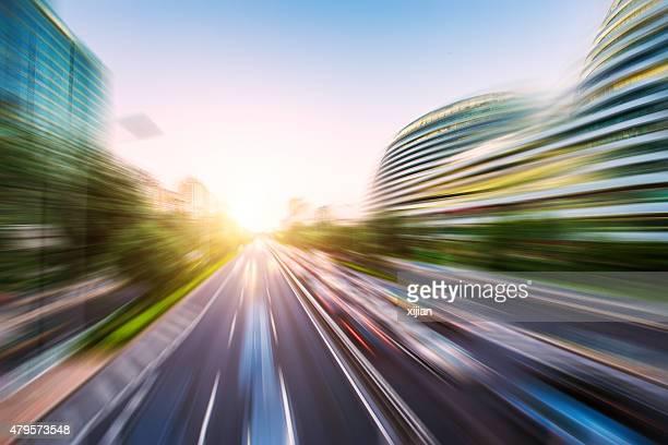 Flou de mouvement de trafic-image