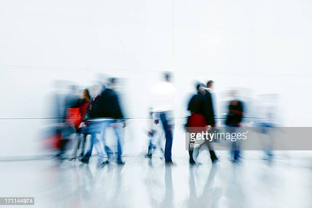 Motion Blur of Commuters and Shoppers