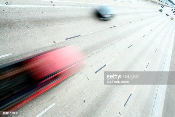モーションブラーの高速車で高速