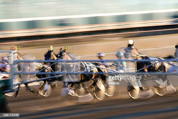 Motion Blur of Harness Racing