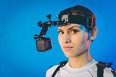 motion capture actor cinema studio virtual reality female