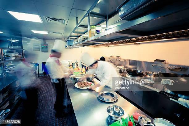 motion Köche des restaurant-Küche