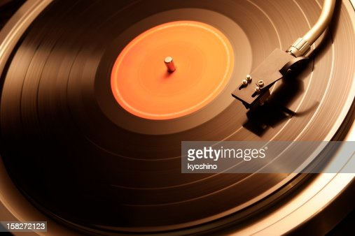 Motion of the turntable of warm toned image