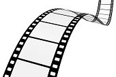 Motion Picture Film on White