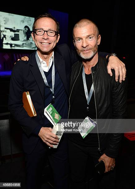 Motion Picture Literary President/Agent Richard Lovett and NV Investments' Aviv Nevo attend the Vanity Fair New Establishment Summit at Yerba Buena...
