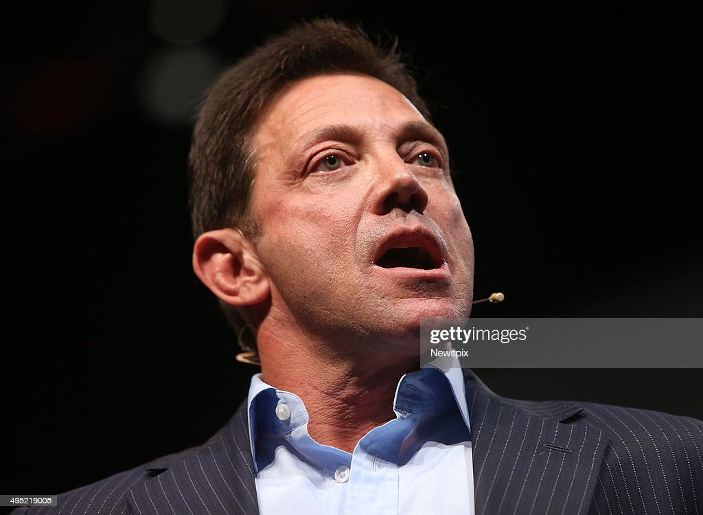 Motivational speaker Jordan Belfort speaks on 'The Art of Prospecting' at a real estate agents' conference at the Gold Coast Convention Centre on June 1, 2014 on the Gold Coast, Australia.