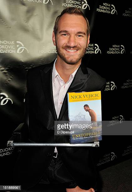Motivational speaker Nick Vujicic attends The Novak Djokovic Foundation's inaugural dinner at Capitale on September 12 2012 in New York City