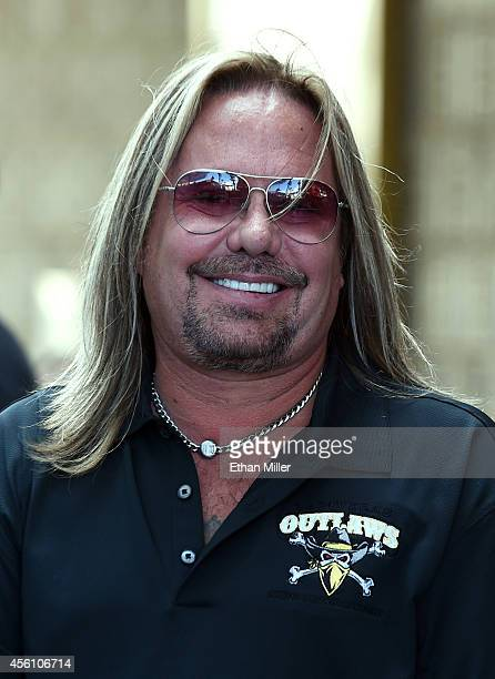 Motley Crue singer and RockStar Investment Group Inc CEO Vince Neil attends a news conference at the Fremont Street Experience to announce the Las...