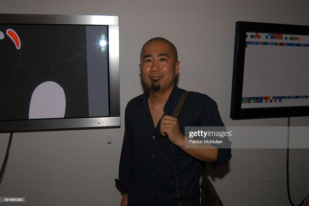 Moto Michi attends New Museum Hosts Opening Reception for Aernout Mik's Refraction Rhizome Artbase 101 at New Museum Of Contemporary Art on June 22...