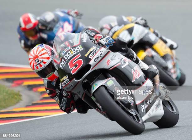 Moto2 Fahrer Johann Zarco Frankreich Kalex vorn waehrend des Trainings beim MotoGP auf dem Sachsenring in HohensteinErnstthal Deutschland Deutschland...