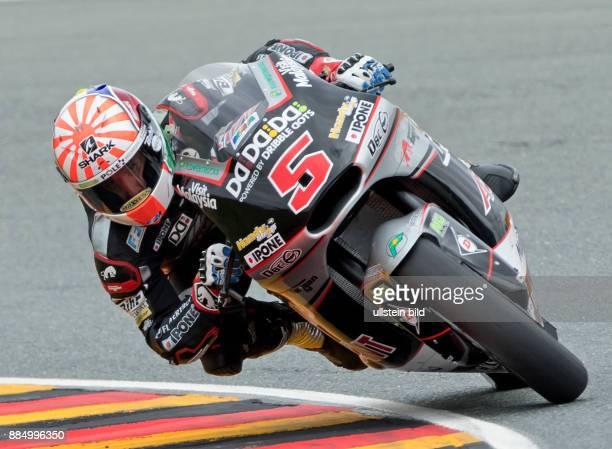 Moto2 Fahrer Johann Zarco Frankreich Kalex waehrend des Trainings beim MotoGP auf dem Sachsenring in HohensteinErnstthal Deutschland Deutschland...
