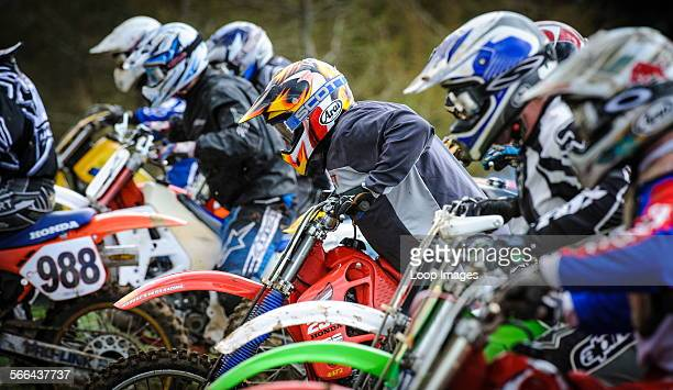 Motocross action at Tinto Park in South Lanarkshire