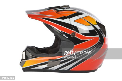 motocross motorcycle helmet : Stock Photo