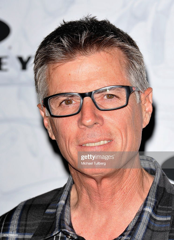 Motocross racer Mike Bell attends the Oakley's Disruptive By Design Launch Event at Red Studios on February 24, 2014 in Los Angeles, California.