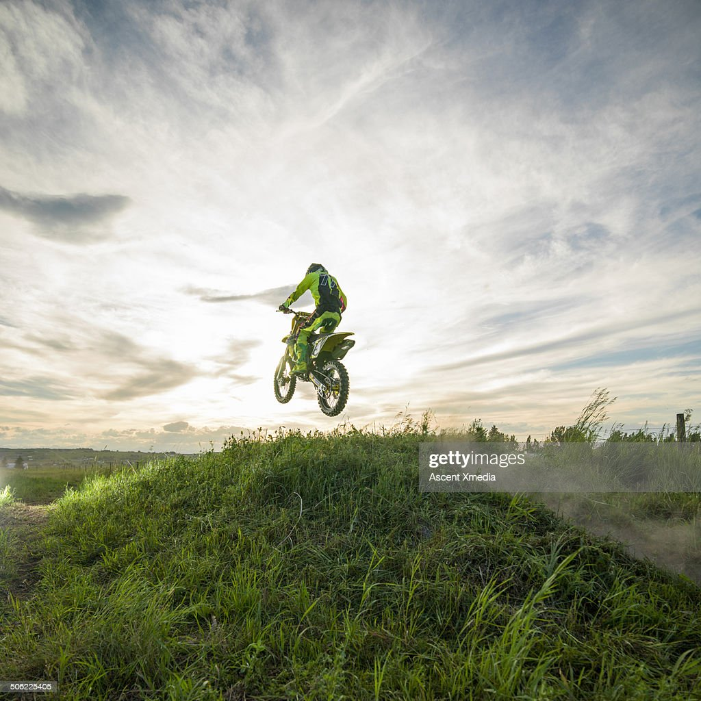 Motocross track jumps