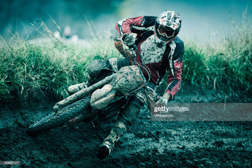 Motocross rider : Stock Photo