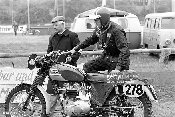 Motocross World Championship Steve Mac Queen To Participate In The Six Days Of Erfurt Erfurt Allemagne de l'Est septembre 1964 Championnat du monde...