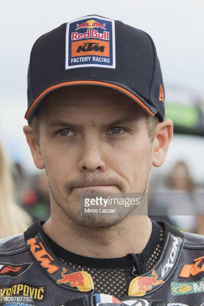 MotoGP 2017 n 36 Mika Kallio of Finland and Red Bull KTM Factory Racing looks on at Sachsenring Circuit on July 5 2017 in in HohensteinErnstthal...