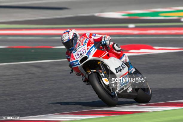 MotoGP Andrea Dovizioso Ducati Team during the MotoGp Grand Prix Monster Energy of Catalunya in BarcelonaCatalunya Circuit Barcelona on 11th June...