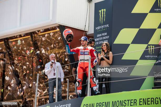 MotoGP Andrea Dovizioso Ducati Team rhe winner during the MotoGp Grand Prix Monster Energy of Catalunya race in BarcelonaCatalunya Circuit Barcelona...
