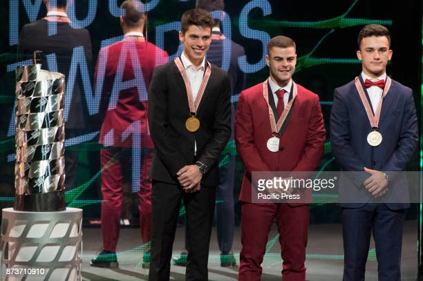 MotoGP Award Night moto3 world championship podium Joan Mir Romani Fenati and Aron Canet