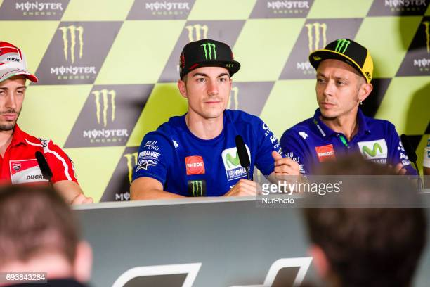 MotoGP Maverick Vinales Movistar Yamaha Motogp Team and Valentino Rossi Movistar Yamaha Motogp Team during the press conference of MotoGp Grand Prix...