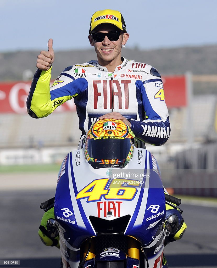 MotoGp World Champion Italian MotoGP rider Valentino Rossi gives the thumb up after the Valencia's MotoGP Grand Prix at Ricardo Tormo race track in...