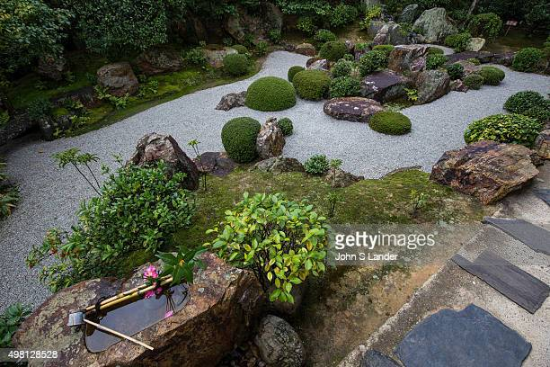 Motonobu Garden at Taizoin Taizoin was built in 1404 and the oldest of the forty subtemples at Myoshinji Taizoin has three unusual gardens The first...